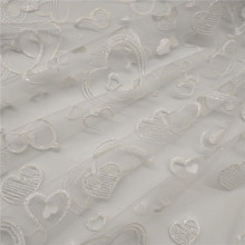 High Quality White Elegant Glitter Printed Tulle Lace