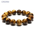 Mens tiger eye gemstone stretch bead bracelets