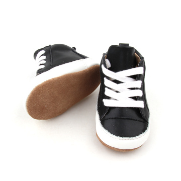Black Soft Sole Leather Shoes