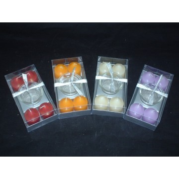 Scented Colorful Home Peaked Pillar  Candles