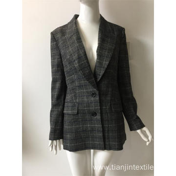 T/R full lining yarn dyed check suit