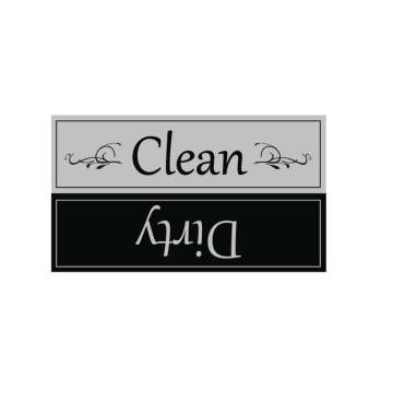 White/black  Clean Dirty Dishwasher Magnet Signs