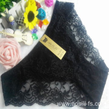 OEM wholesale China cheap black sexy girl slimming lace cotton fancy underwear 515
