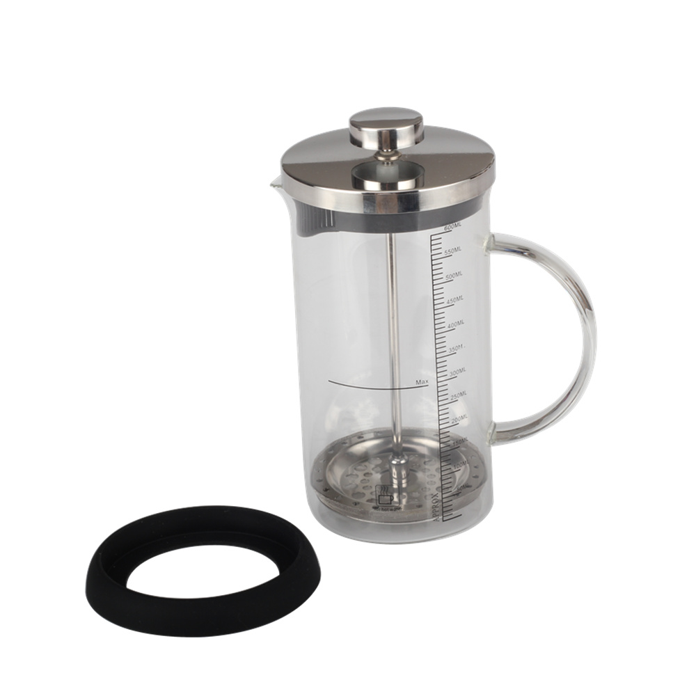 Removable glass french press