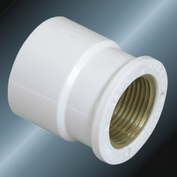 DIN PN10 Water Supply Upvc Female Adaptor Brass