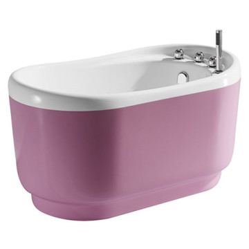 Eco-friendly Portable Indoor Pink Acrylic Small Bathtub