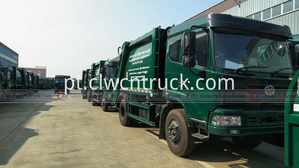 100units compactor garbage truck exporting to Sri Lanka 2