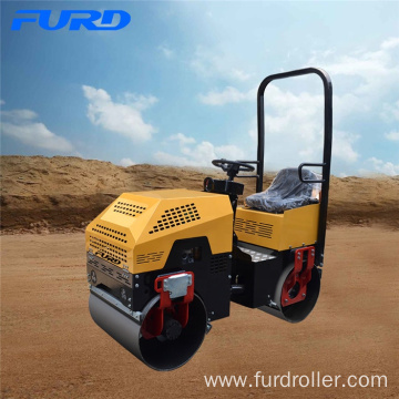 Popular Selling 1000kg Mini Hydraulic Vibratory Roller With 20KN Vibration Capacity