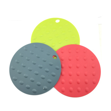 heat hot resistant round silicone pad