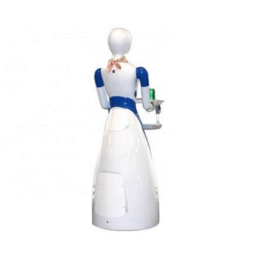 Slim Restaurant Waitress Robot