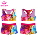 Custom Colorful Cheerleading Sublimation Sportswear