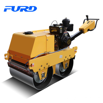600kg smooth drum walk behind roller compactor with Honda engine (FYLJ-S600C)