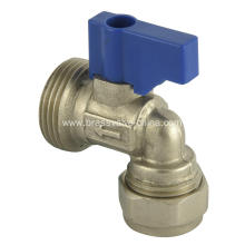 Brass isolation ball valve angle type