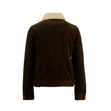 Customizable Vintage Corduroy Casual Women's Jacket