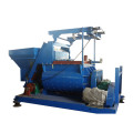 Small concrete mixer with hopper