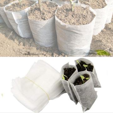 Biodegradable Seed Nursery Bags Non-woven Seeding Bag Flower Pot Vegetable Transplant Breeding Pot Garden Planting Plant Bag