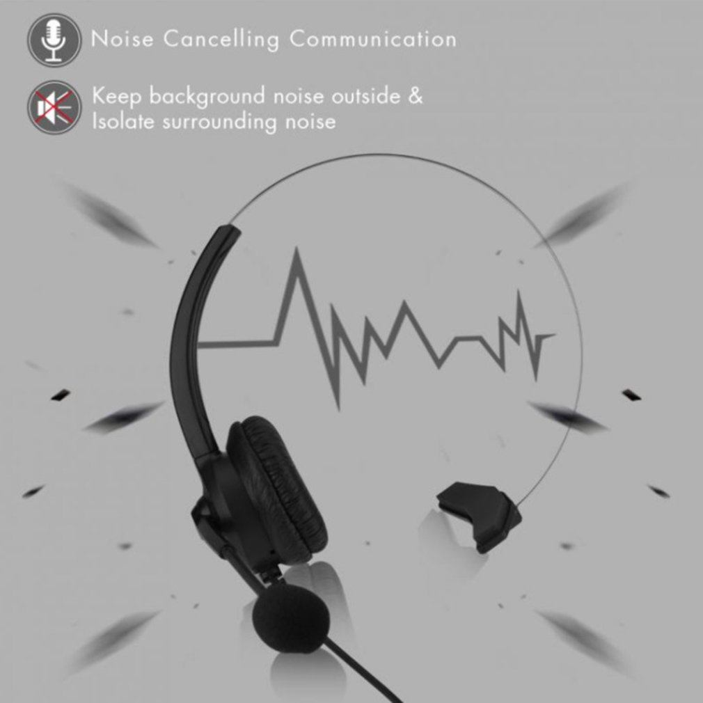 Call Center Headset With Microphone 2.5/3.5mm Plug Telephone Voice Interphone Headphone For Computer PC Game Volume Control