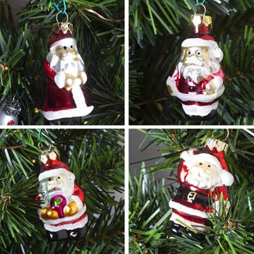 Mini Size Customized Christmas Glass Hanging Ornament