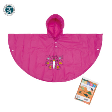 PE/PVC/PEVA Material disposable rain poncho