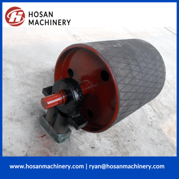 Conveyor Diamond Rubber Covered Pulley with motor