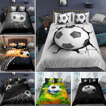 Dropshipping 3D Football Bedding Set Printing Pillowcase Quilt Cover Soccert Duvet Covers Sets Home Textiles Queen King Size