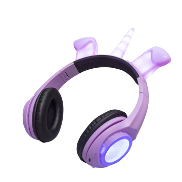 Glowing LED Light Up Animal Stereo Wired Headset