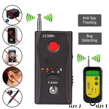 Wireless Camera Lens Signal Detector Full-range Audio Bug RF GSM Device Finder CC308 Mini WiFi Cameras Detect Privacy Protect