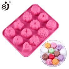 SJ 3D Baby Soap Molds Heart & Rose-Shaped Tray Silicone Mold Recycling Easy to Demolding Soap Maker Handmade Non-Stick For Home