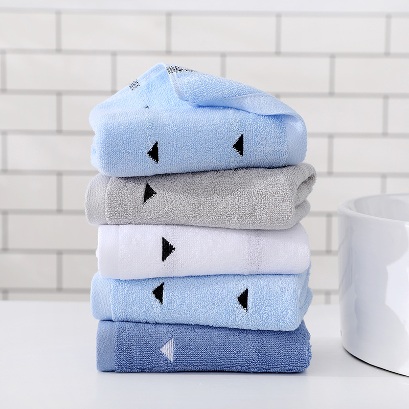 Factory direct selling cotton face towel soft plain cut towel cotton adult gift wholesale logo (4)