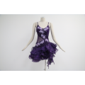 Purple latin dance costumes for competition