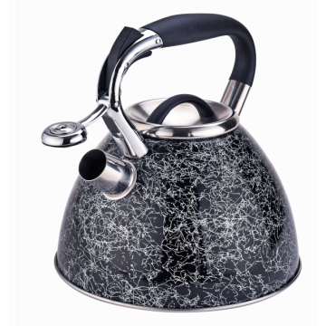 3 Quart stainless steel whistling kettles black golden