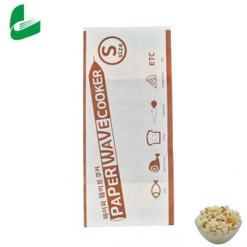 Kraft fast food sealable packaging microwave popcorn paper bagS