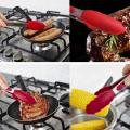 TPR handle silicone kitchen cooking food tongs