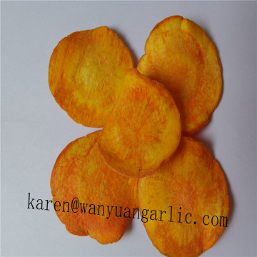 VF carrot chips with stable supply