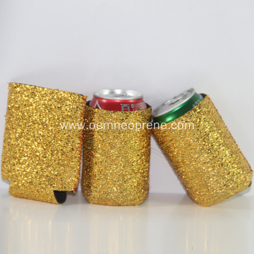 Fashion custom glitter can cooler for wedding