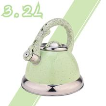 Green Mirror Stainless Steel Whistling Stovetop Tea Kettle