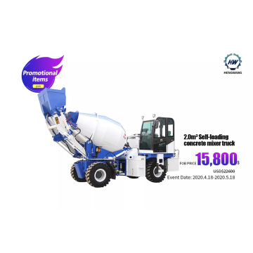 2 Cubic Meters Concrete Mixer Truck Price Sales