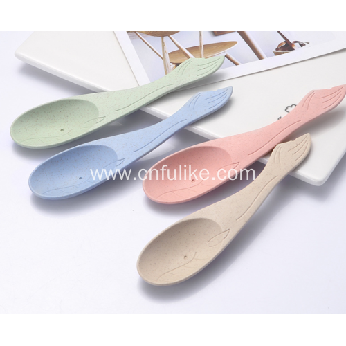4-Pieces Fish Shaped Cartoon Spoon for Kids