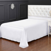 Luxury Flat Silk Bed Sheets Queen