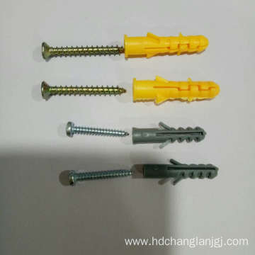 Nylon frame fixing anchor with sleeve zinc screw