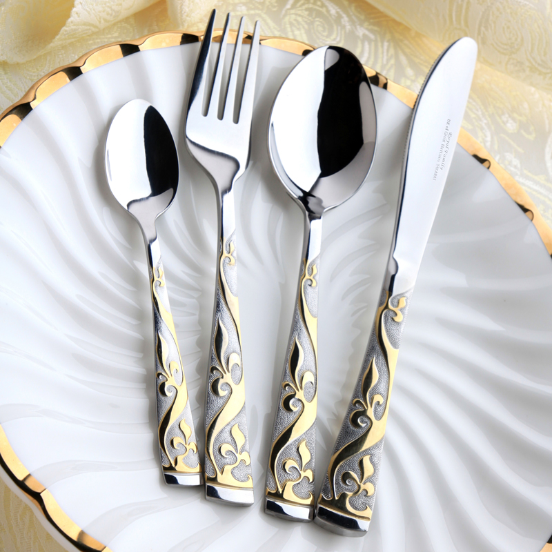Gold Plated Stainless Steel Tableware