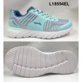 Lady fashion color flyknit shoes