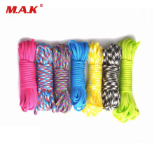 Paracord 550 Parachute Cord Lanyard Rope Diameter 4mm Mil Spec Type III 7 Stand Climbing Camping Survival Rope