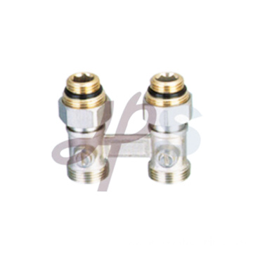 Brass H pattern valve nickel plated surface