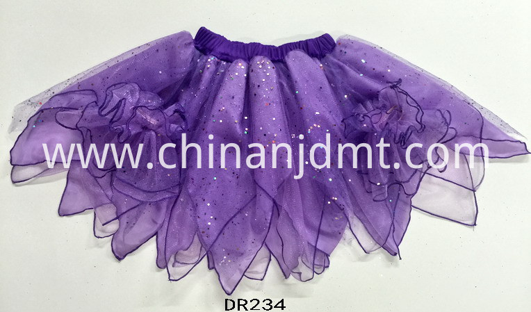 An irregular TuTu skirt