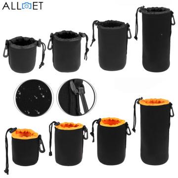 ALLOET Camera Lens Bag Full Size S M L XL Neoprene Waterproof Soft Video Camera Lens Storage Pouch Bags Case DSLR Lens Protector