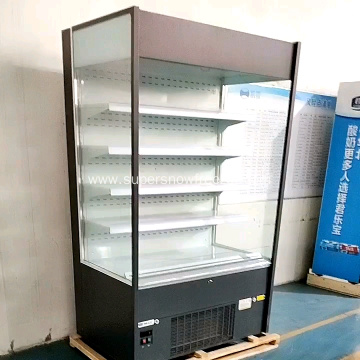 grocery vertical display cooler refrigeration equipment