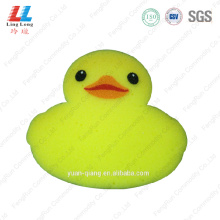 Yellow little duck bath sponge