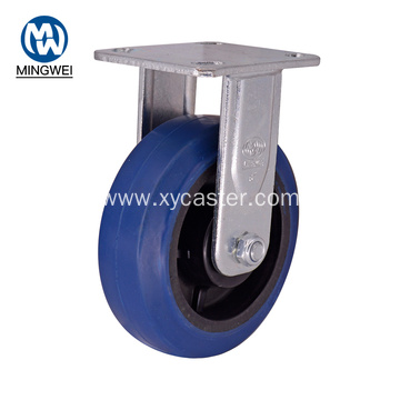 6 Inch Heavy Duty Blue Rubber Caster