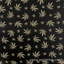 Rayon Bengaline Print Maple Leaf Style Garment Fabric